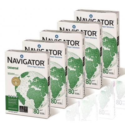 PAPEL A4 NAVIGATOR 80gr. - Caja de 5 Paquetes de 500 hojas