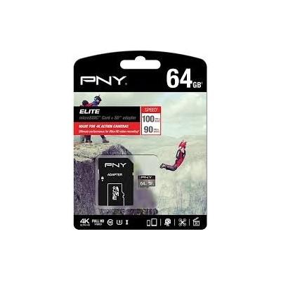 Tarjeta MicroSD PNY 64Gb Elite