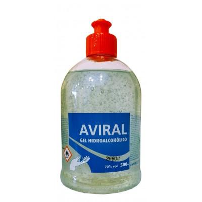 Pack 3 x GEL Hidroalcohólico Aviral 70% con Dosificador 500ml
