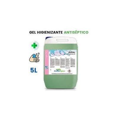 GEL Aviral Hidroalcohólico 70%, Envase 5 litros