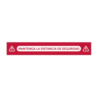 """VINILO """"Mantenga la distancia de seguridad"""" - Pack 5uds"""